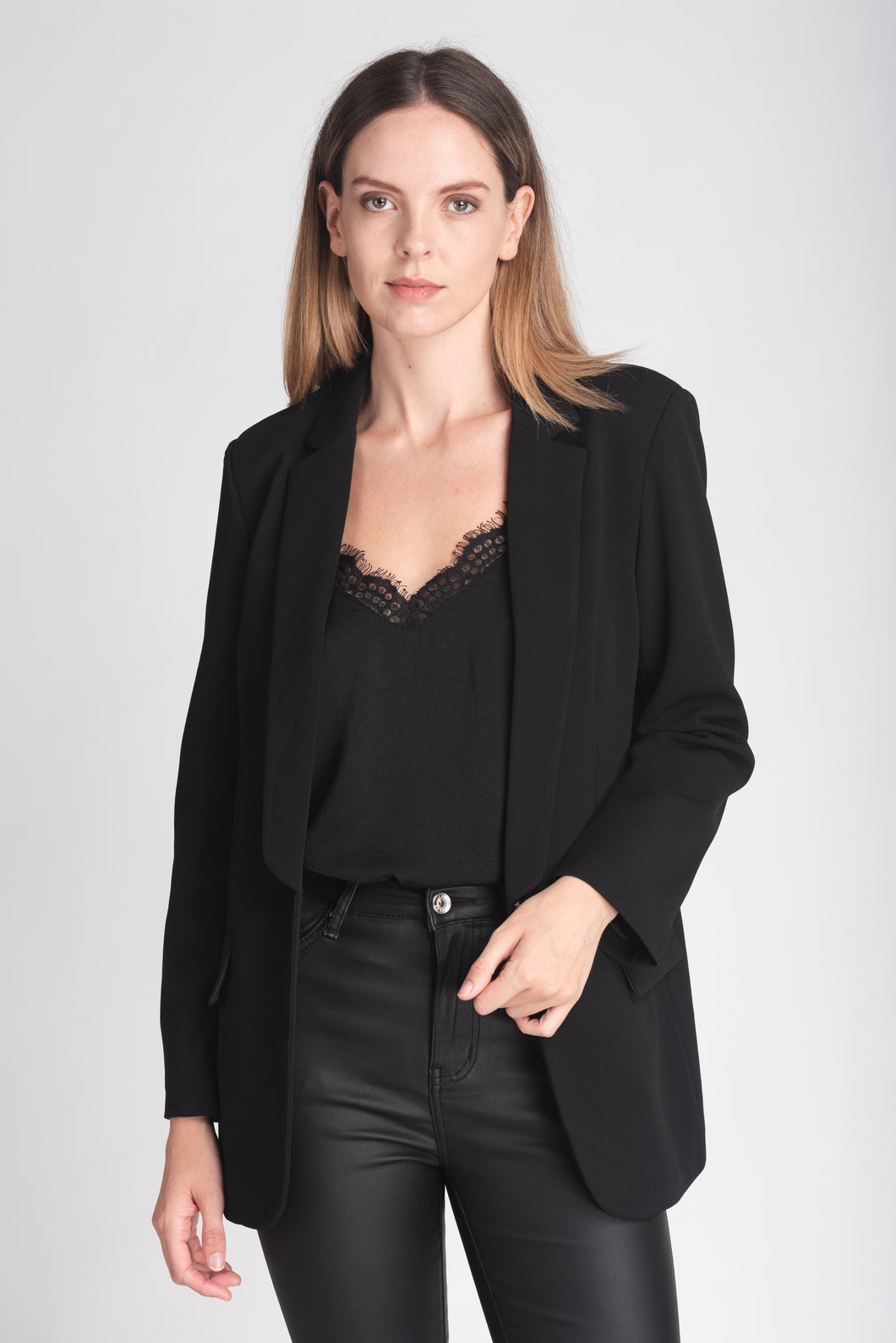 Timeless Single Breasted Longline Blazer - Elrosé Store