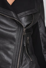 Load image into Gallery viewer, Bi-Material Biker Jacket - Elrosé Store