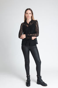Statement Lace Buttoned Shirt