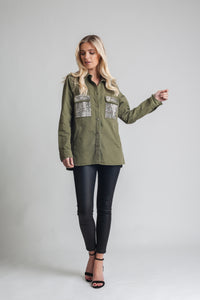 Military-Style Cotton Shirt