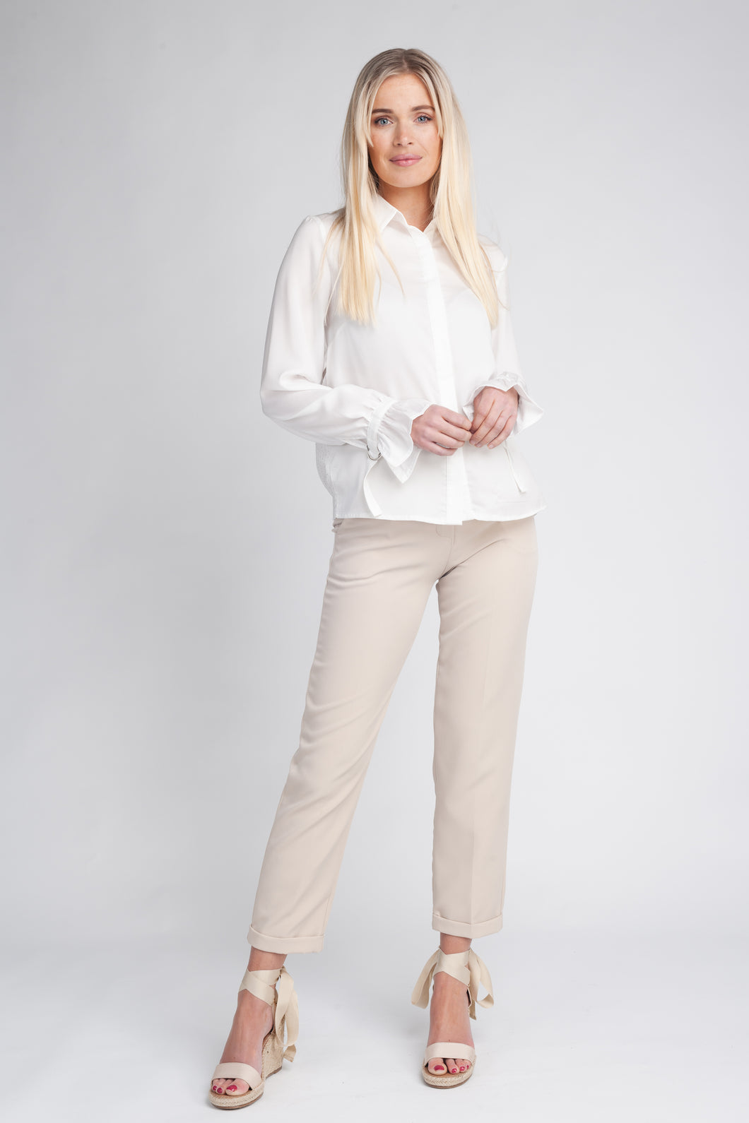 Fluid Shirt With Detailed Sleeves