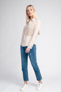 Soft Fringed Shacket