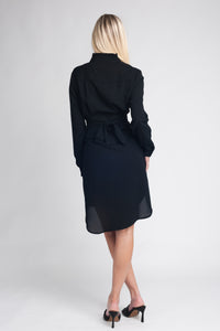 Flattering Belted Shirt Dress