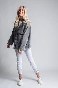 Denim Jacket With Decorated Pockets