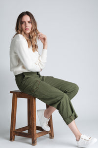 Cargo Trousers With Adjustable Ankle
