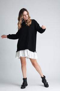 Shirt Style Sweatshirt Dress