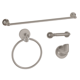 "Nuk3y Ocean 4-Piece Bathroom Hardware Accessory Set with 24"" Towel Bar"