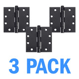 "Nuk3y 4.5"" x 4.5"" , 2 Ball Bearing Hinge, Non-Removable Pin (3 Pack) - Nuk3y"