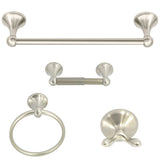 "Nuk3y 4-Piece Bathroom Hardware Accessory Set with 24"" Towel Bar - Hardware X Supply"