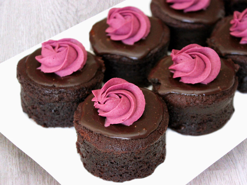 Choc Raspberry Mud Cakes 9 Pack (GF)