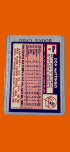 1984 Don Mattingly TOPPS 8 Complete Career CARD