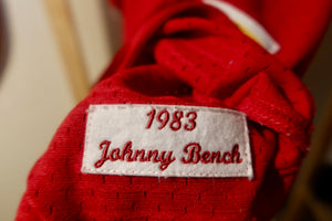 Johnny Bench Mitchell & Ness Cooperstown Authentic Collection