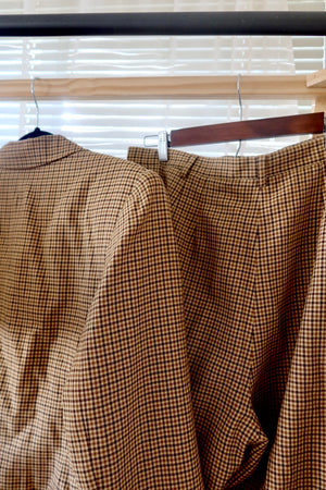 Butterscotch plaid set