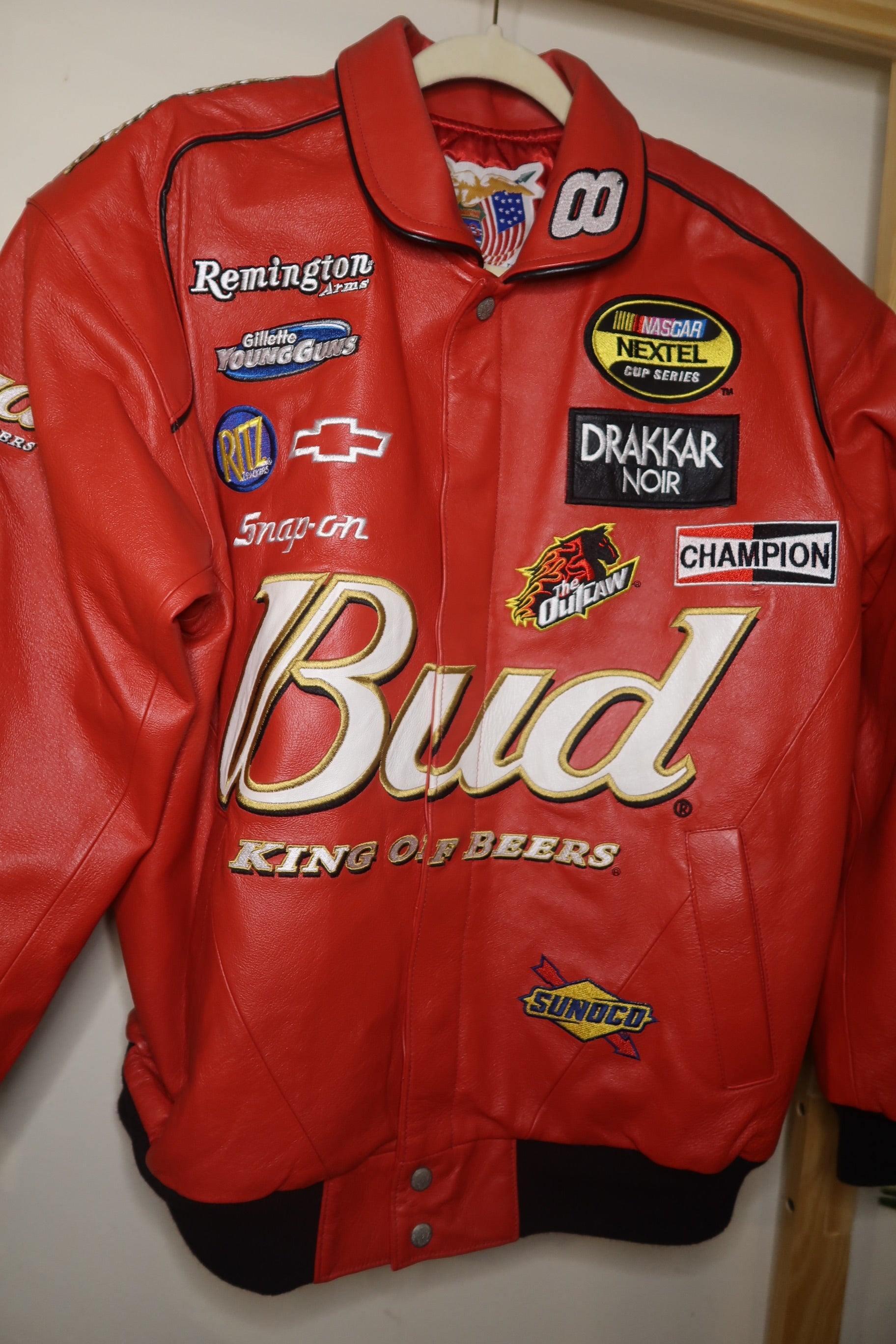 VNTG Bud Leather NASCAR jacket