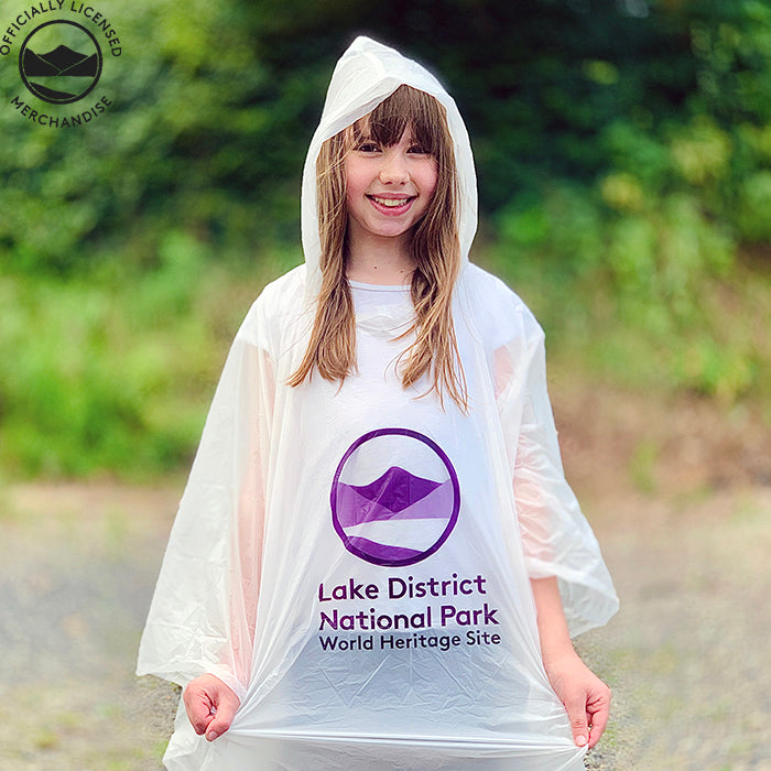 girl wearing lake district poncho