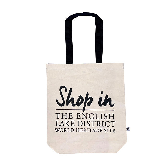 Front of a tote bag Lake District shop gifts world heritage small