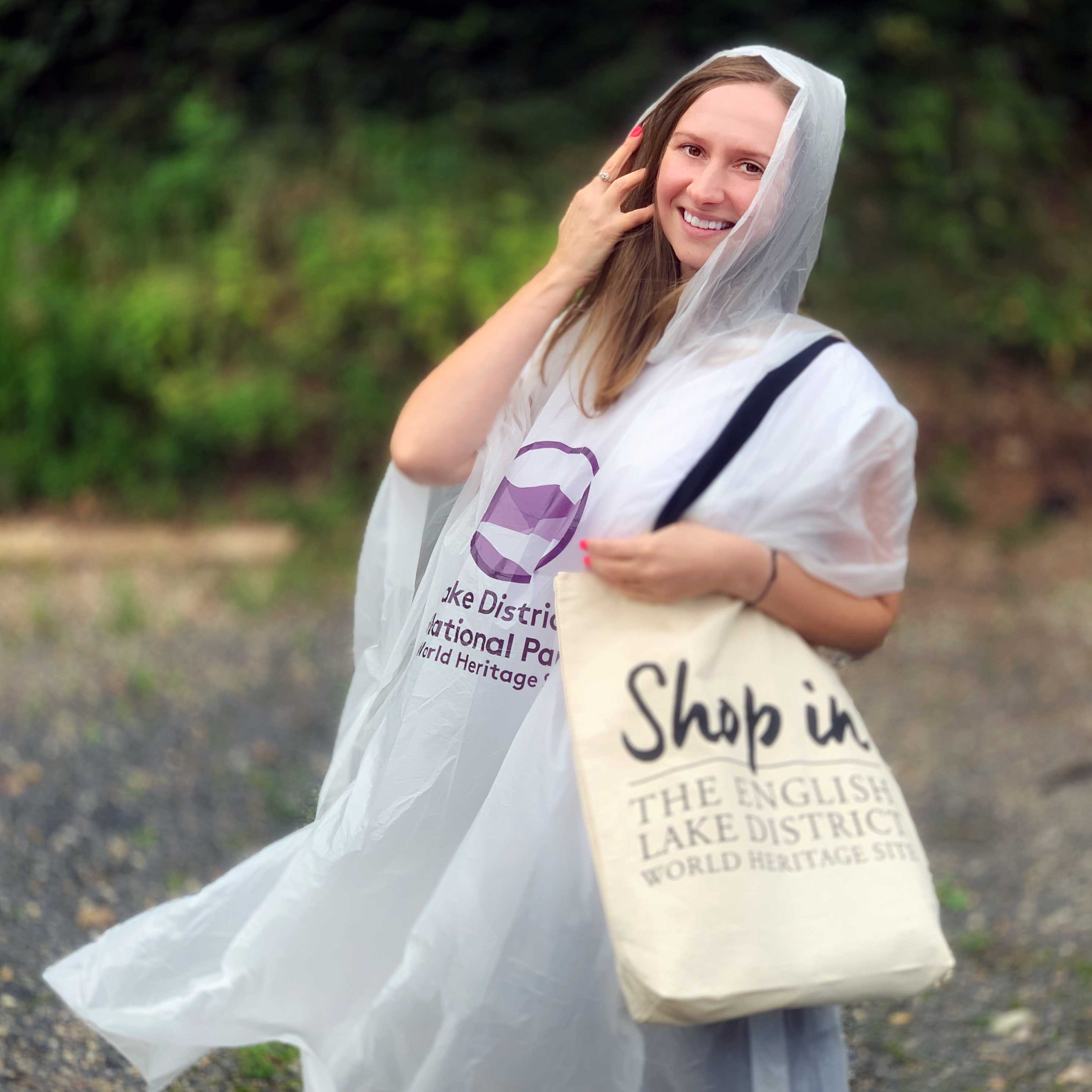 Biodegradable Poncho and Mosaic Postcard
