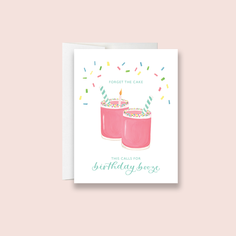 Birthday Booze Greeting Card
