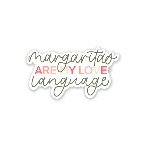 Margarita Love Language Sticker