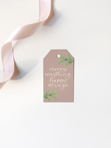 Merry Everything Happy Always Gift Tags