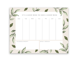 Lush Leaf Weekly Notepad