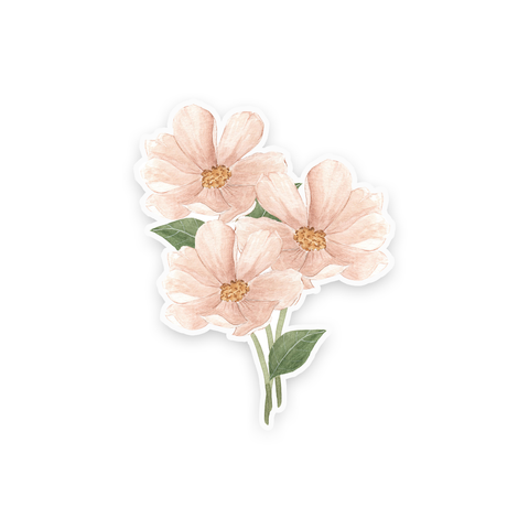 Pink Cosmos Sticker