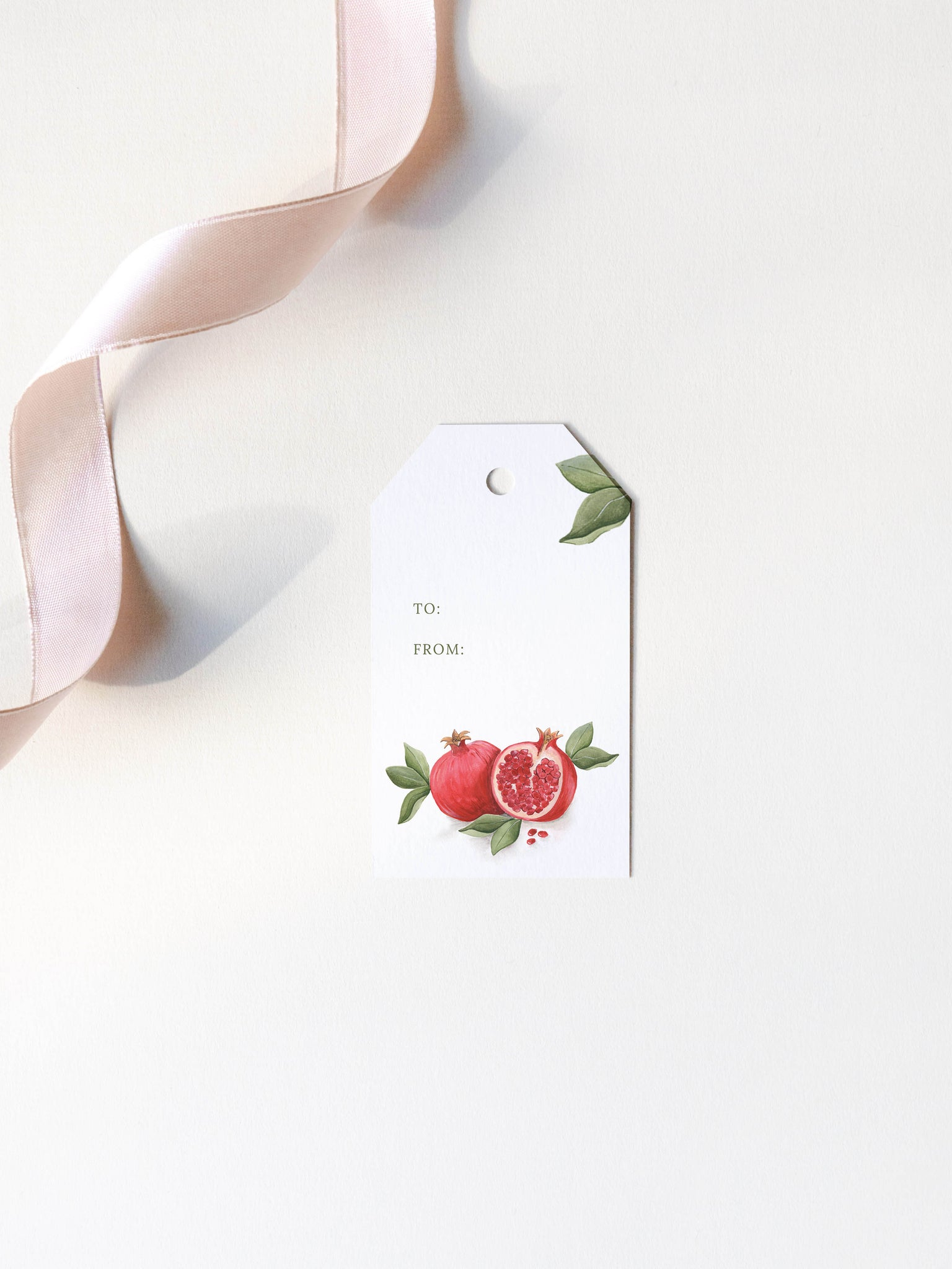 Pomegranate Christmas Gift Tags