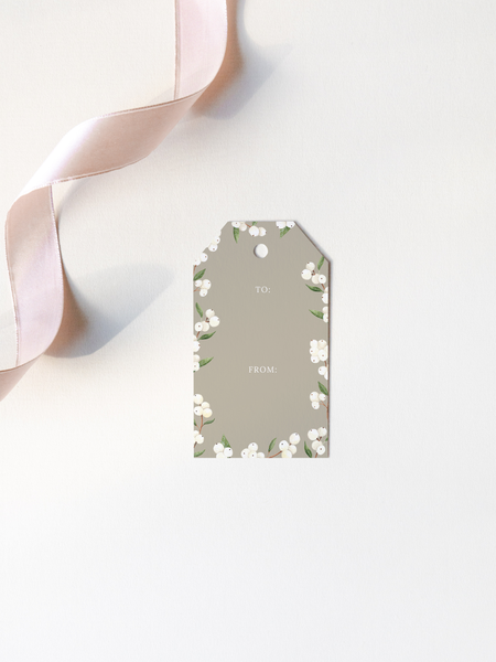White Snowberries Gift Tags