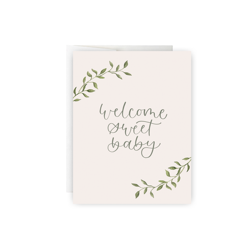 Welcome Sweet Baby Greeting Card