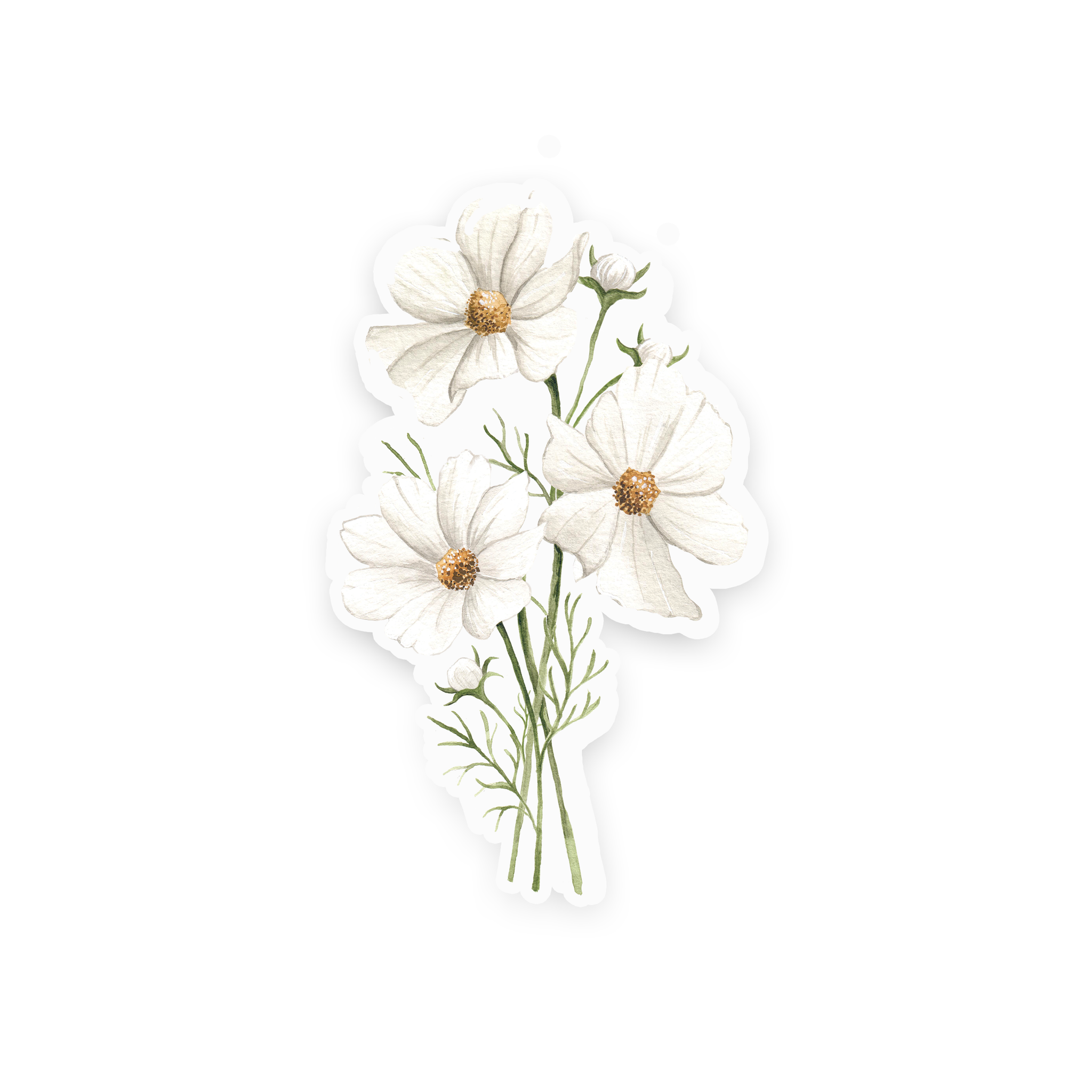 White Cosmos Sticker