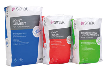 Siniat tape and jointing compounds for a quality fishing
