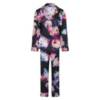 Floral Satin Long PJ Set - Figleaves Collection