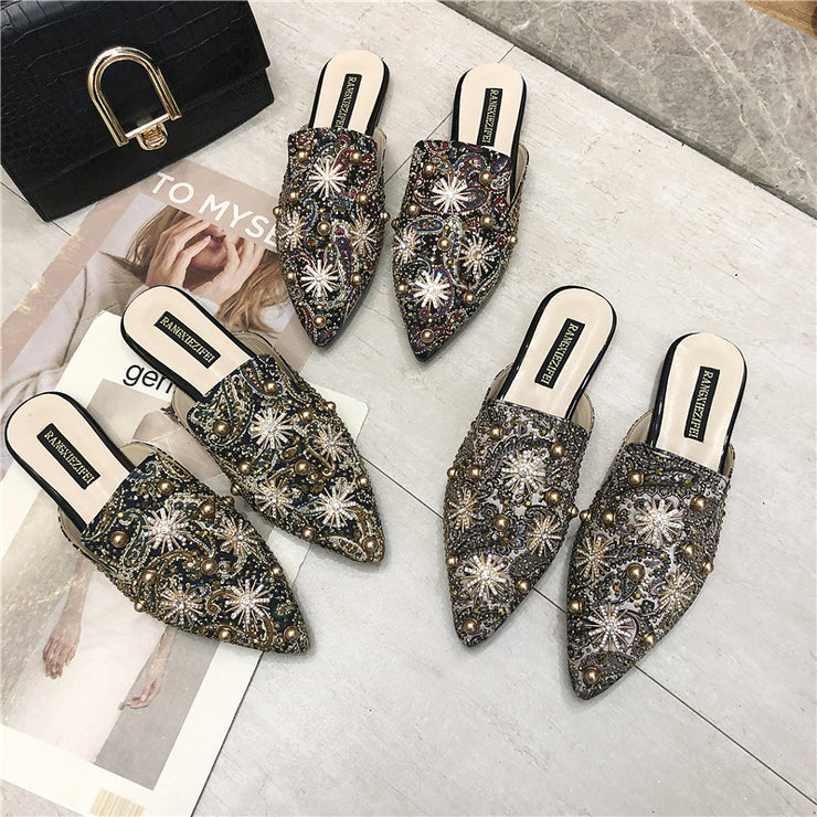 Women Mules Ladies Summer Slippers Flat Casual Shoes