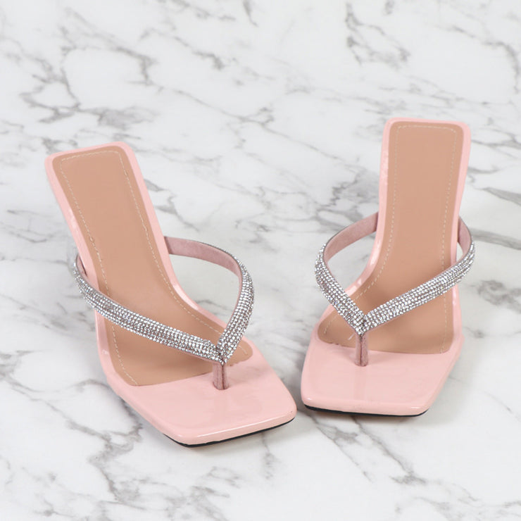 Fashion Rhinestone High-heeled Sandals