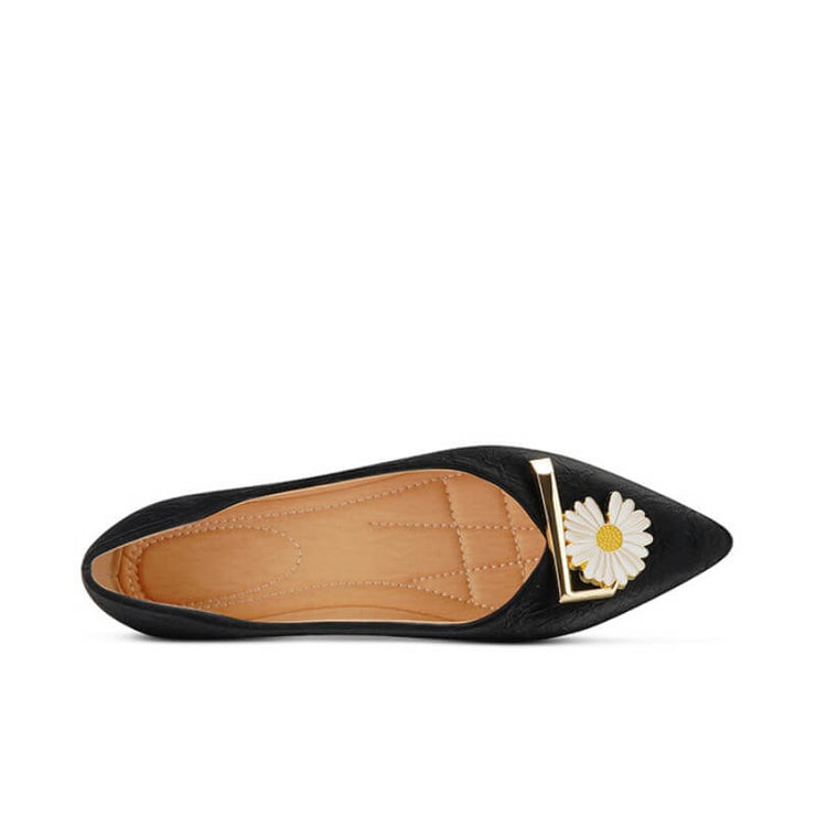 Fashion Pointed Toe Flower Flats