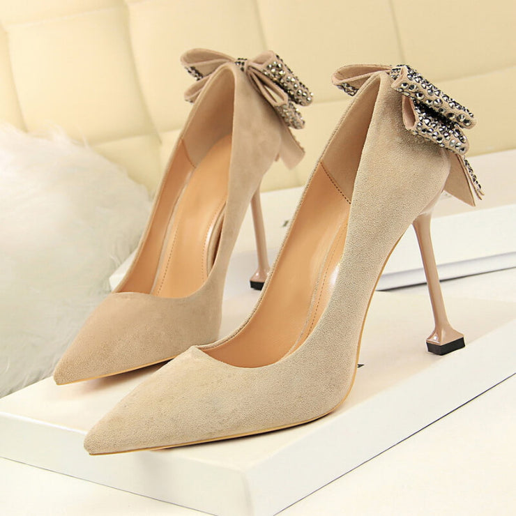 Women Pumps Spring Wedding Bridal Shoes Pointed Toe