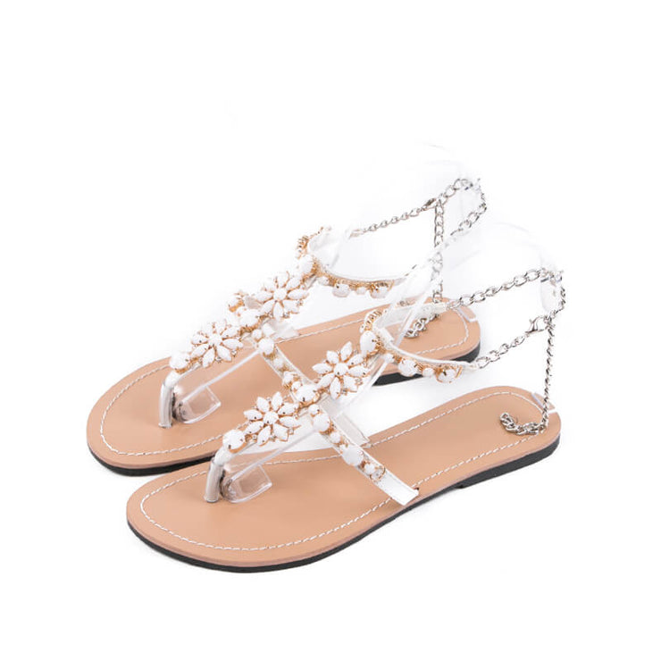 Summer Women FashionT-strap Flat Sandals