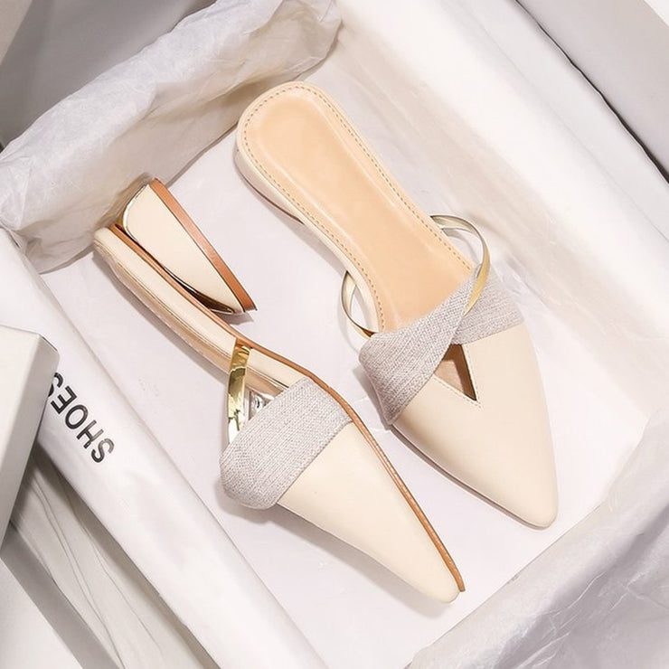 Elegant Women Summer Pointed-Toe Slippers