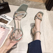 New Fashion Rhinestone High-heeled Sandals