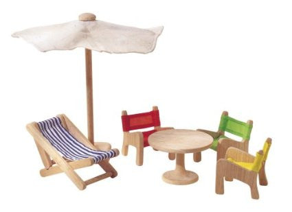 Patio Furniture Dollhouse Accessory Set