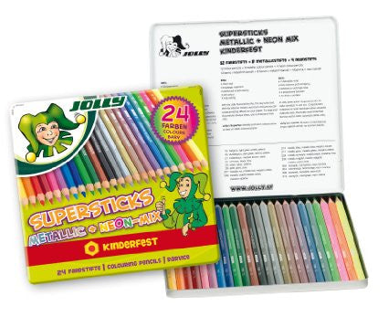 Supersticks Colored Pencils- Tin of 24