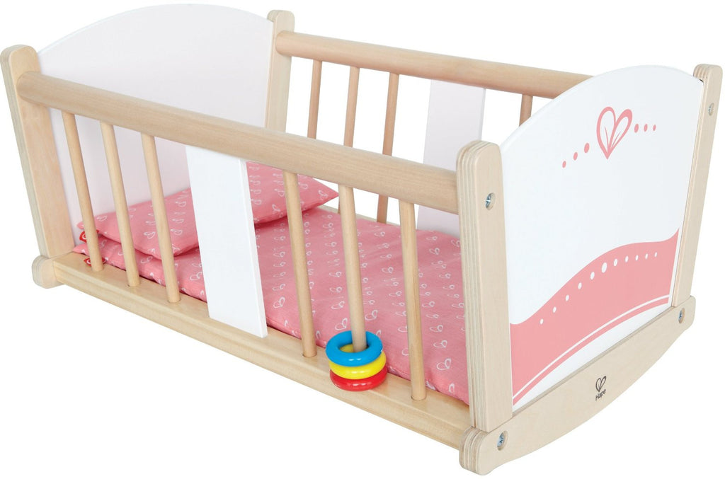 Wooden Doll Rock-a-Bye Cradle