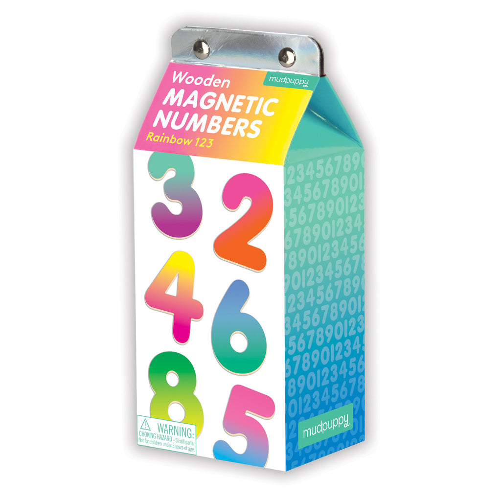 Wooden Magnetic Numbers- Rainbow 123