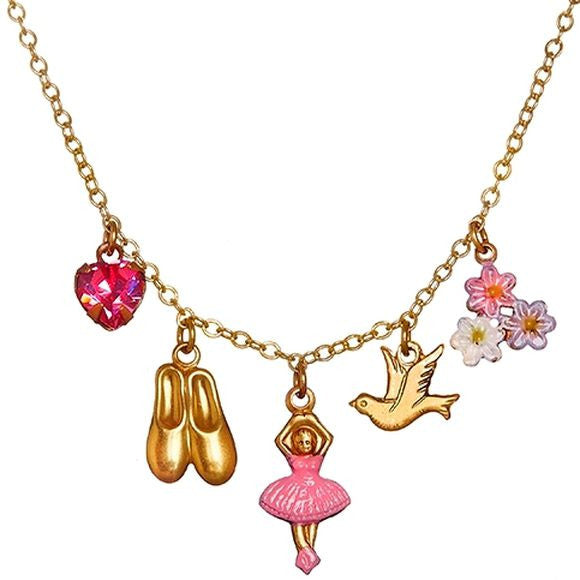 Ballerina Five Charm Necklace