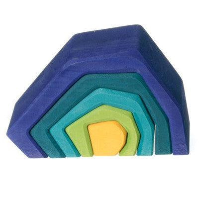 Grimm's Earth Element Wooden Nesting Toy