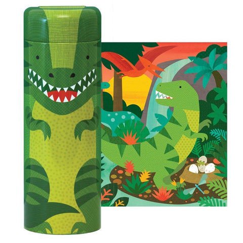 64-Piece Tin Canister Puzzle- Dinosaurs