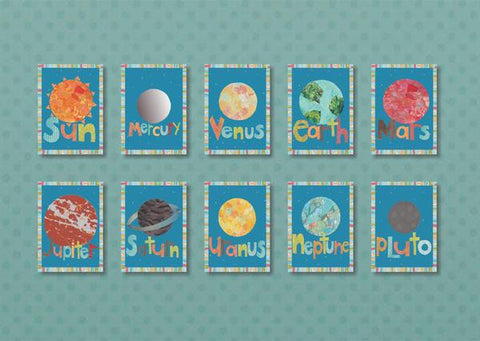 SALE! Solar System Wall Art Cards