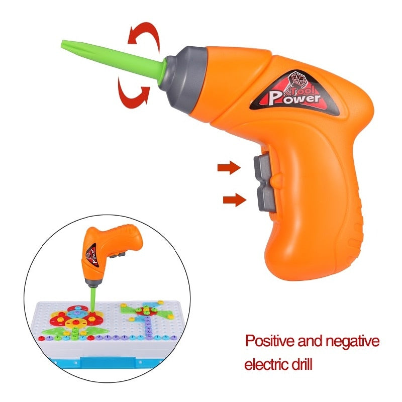 TOYDRILL™ CREATIVE KIDS ELECTRIC TOOL SET
