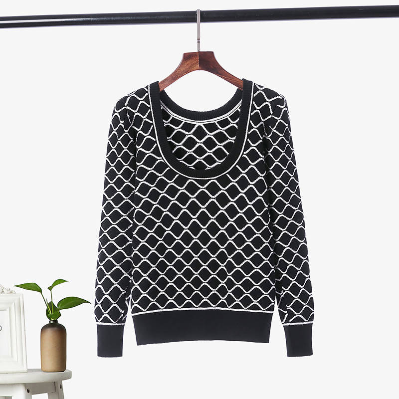U Neck Diamond Sweater