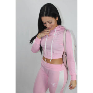 Pink Crop Top Tracksuit